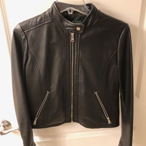 Ralph Lauren Leather Moto Jacket - size Small